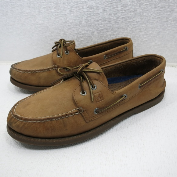 Sperry Top-Sider Women's Gold A/O 2-Eye Leather Dark Brown Oxford 45eLFPKmKs